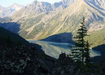 Утренний вид на кучерлинское озеро