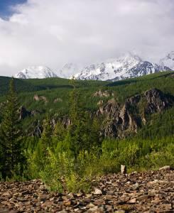 Вид с отрогов Ржаной горы