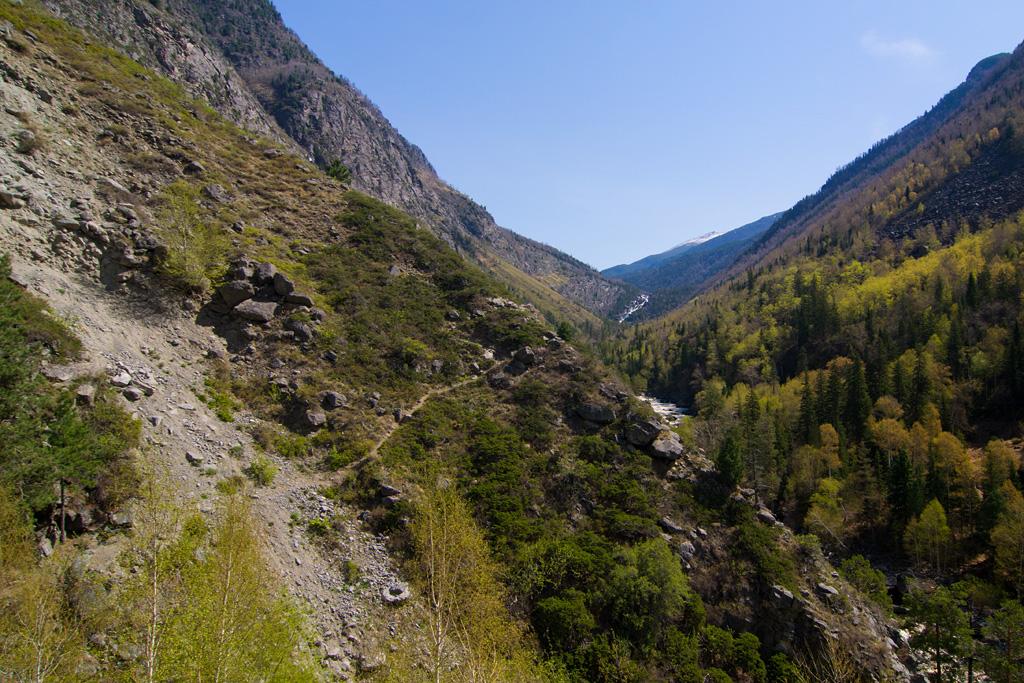 Тропа к водопаду Учар
