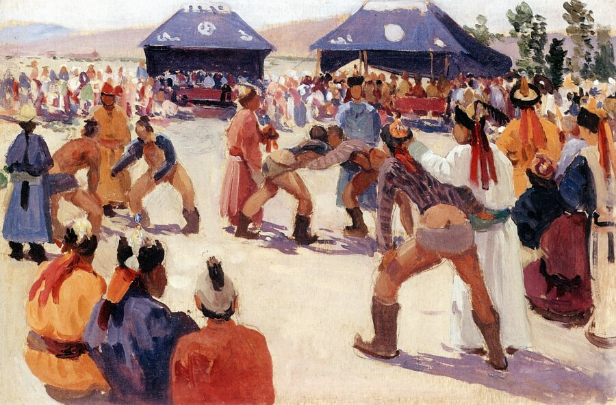 Чорос-Гуркин, Борьба монгол