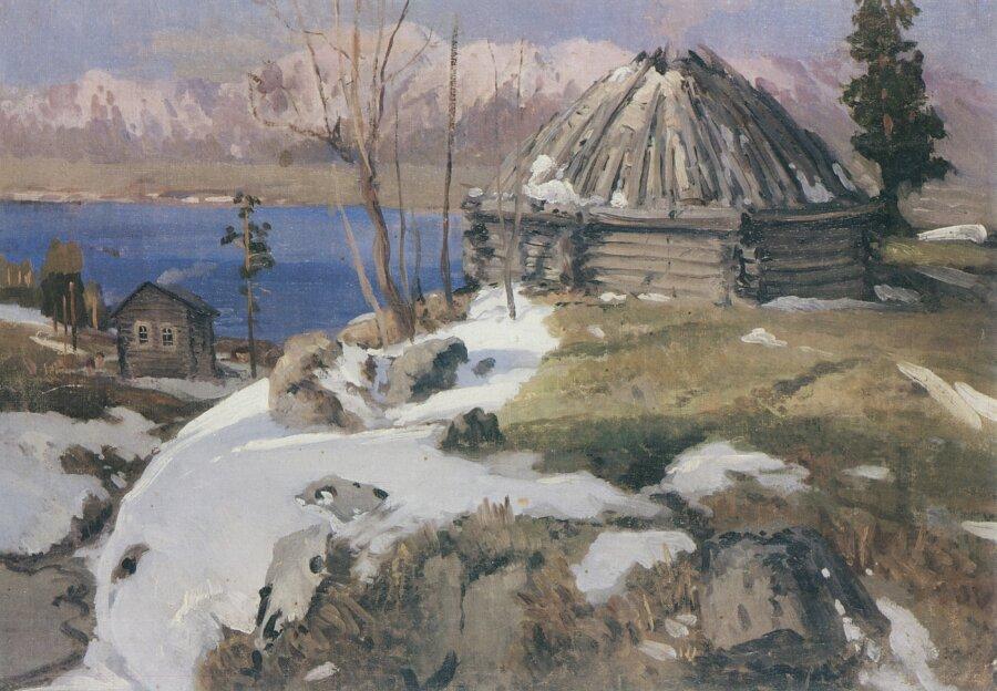 Чорос-Гуркин, Весенний вечер на озере Эштигол