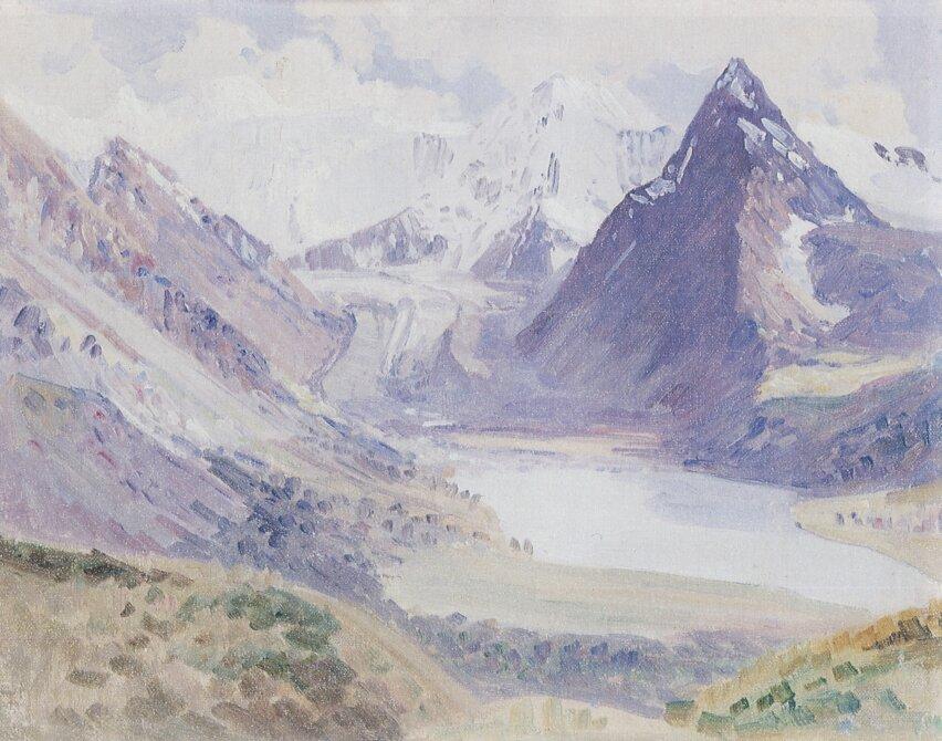 Чорос-Гуркин, Вид на Белуху