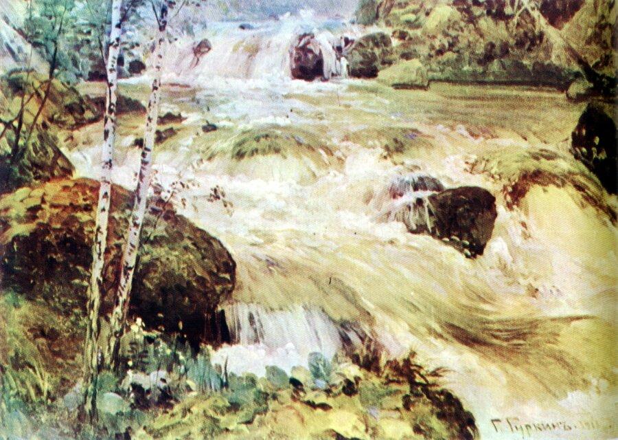 Чорос-Гуркин, Горная река