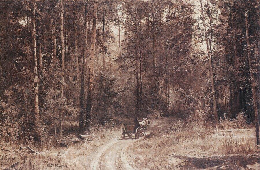 Чорос-Гуркин, Дорога в лесу