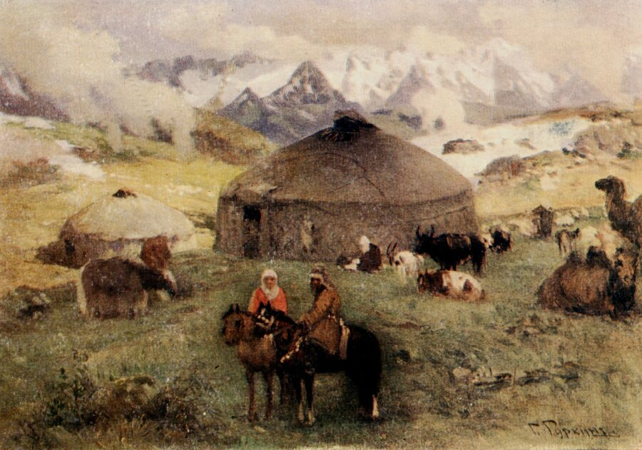 Чорос-Гуркин, Кочевье в горах (вариант)