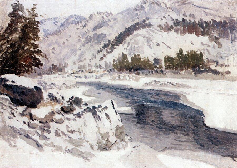Чорос-Гуркин, Катунь зимой