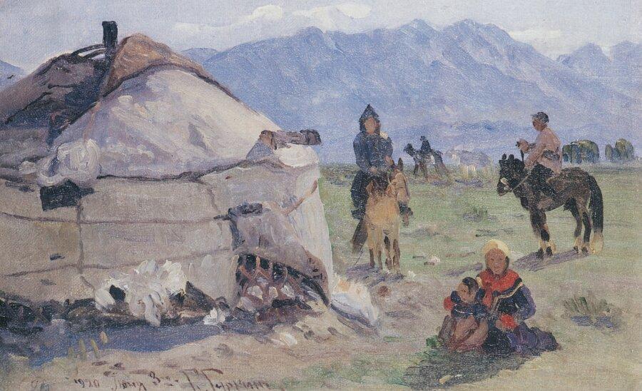 Чорос-Гуркин, Кочевье в горах