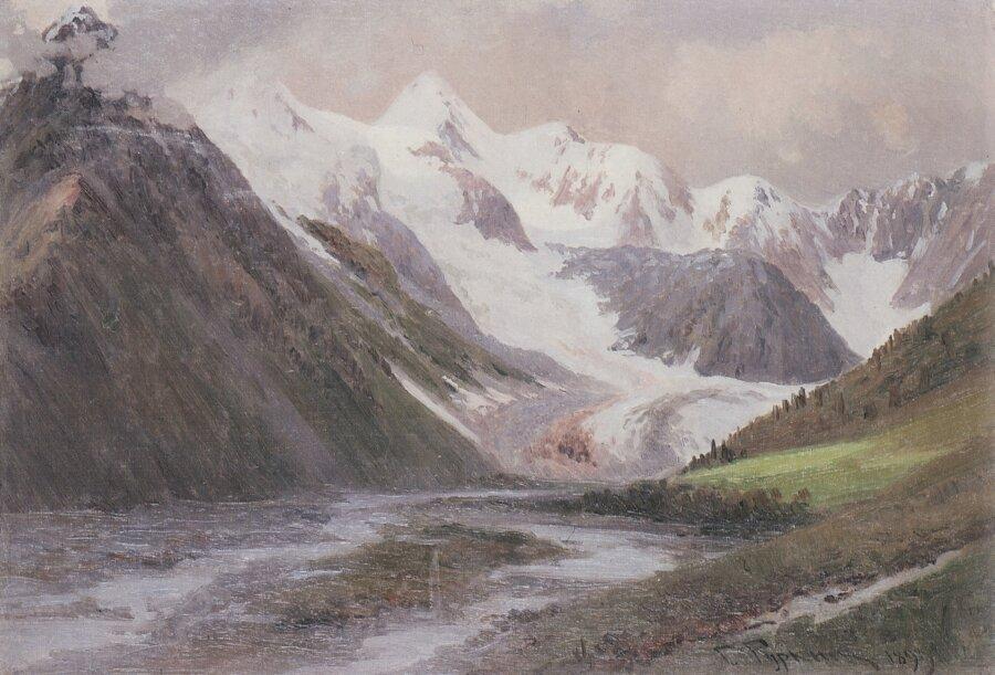 Чорос-Гуркин, Ледник Геблера - Истоки Катуни