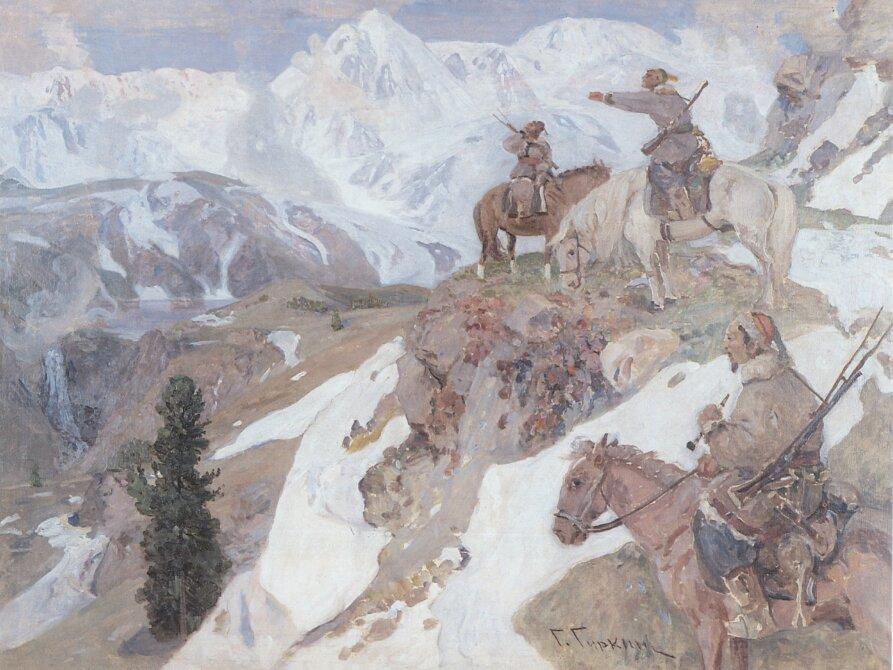 Чорос-Гуркин, Алтайцы-охотники в горах