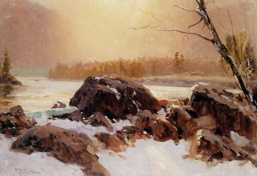 Чорос-Гуркин, Морозное утро на Катуни