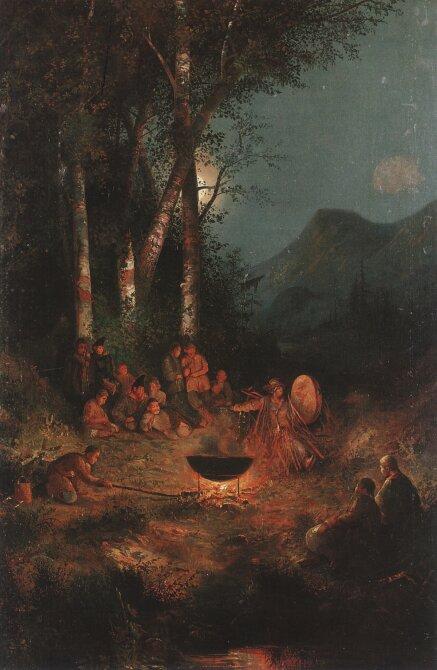 Чорос-Гуркин, Ночь жертвы Камлание