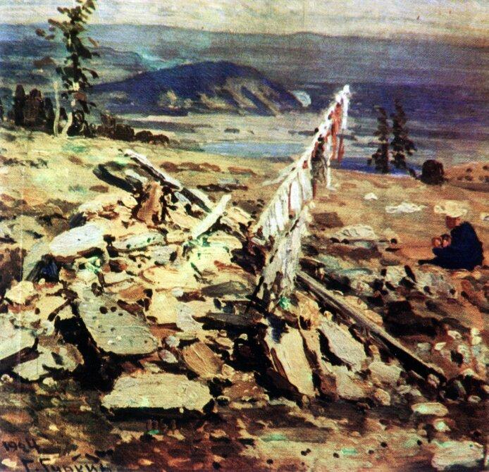 Чорос-Гуркин, Обо на перевале